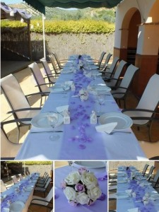 wedding party spanish villa